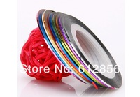 New Promotions!! 200 Rolls Mixed Colors Striping Tape Line nail supply Nail Art Decoration Sticker Free Shipping