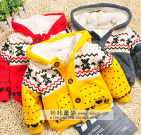 Free shipping Baby thick berber Fleece jacket winter coat
