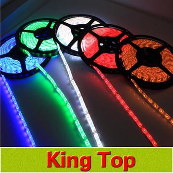 New DC12V SMD3528 Led strip lamps 60led/m total 300leds Flexible lights No-Waterproof colourful Lighting For Home Decoration
