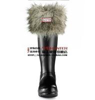 Men women winter rubber boots warm rain boots matching Long fur socks Items contains only socks