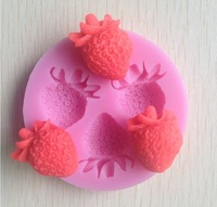 1PCS strawberry silicone mold soap,fondant candle molds,sugar craft tools, chocolate mould ,moulds,silicone molds for cakes