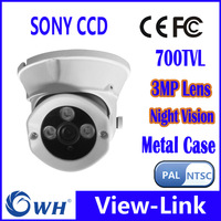 CWH-4331ZPC7 Zuhause kleine Infrarot Video SONY CCD Dome Kamera 3,6 mm Objektiv