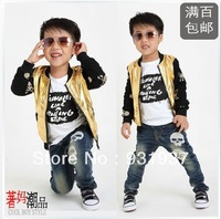 2013 autumn Free shipping child clothing, boy jacket,children jacket kid's fashion jacket print Skull Heads