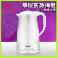 Freeshipping 1.8L Electric kettle stainless steel electric kettle large capacity hot water kettle Automatic power off