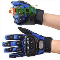 salse Motorcycle Bicycle Bike Full Finger Gloves Motor Racing Nylon Finger Gloves Sports Wear Racing Equipment L-Size bule