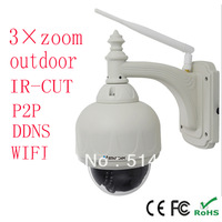Hot sale-3x Zoom PTZ Pan Tilt IR Cut Wireless WiFi  CCTV NightVision Security Monitor Helmet IP POE Internet Camera