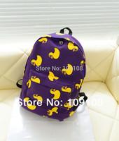 2015 New Arrival Fashion Men's Backpack Canvas Women Backpack Student Schoolbag Campus Shoulder Cartoon Bag
