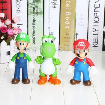 Retail Free shipping 3pcs/set Super Mario Bros Luigi Mario Action Figures Toys Doll