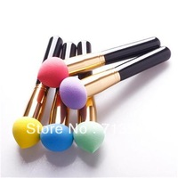 2014 New Hot Sale  2x Makeup Brushes Set Cosmetic Liquid Cream Foundation Sponge Brush #47521