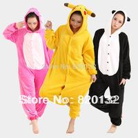 Free Shipping Pikachu Animal Pajamas Coral Fleece Cosplay Pajamas Women Animal Costume Men's Pajamas Sets,Drop Shipping