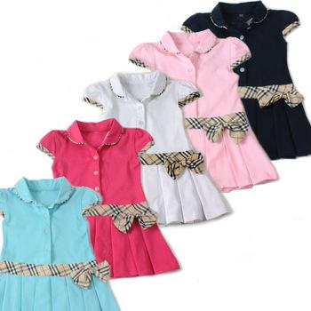 2013 Summer 100%cotton Dress Retail Infant/Baby Girls Brand Polo Dress Children/Kids Princess tennis Dresses Free Shipping