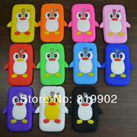 For Samsung Galaxy Ace 2 i8160 8160,Cute Cartoon 3D Penguin Silicon Soft Back Cover Skin Phone Case + free gift