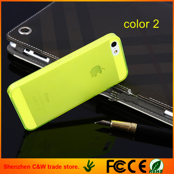 NEW 0.2 mm ULTRA THIN BACK CASE COVER SCREEN FOR APPLE IPHONE 5 5G  Cell phone