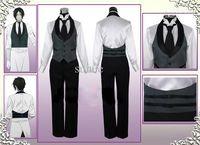 OISK 7pcs/set Black Butler Kuroshitsuji Sebastian Michaelis Cosplay Costumes carnival Outfit