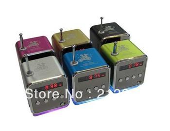 ON SALE,TD-V26 Portable USB TF Card Radio Mini Digital Speaker,LED Display,With FM Function,1pc