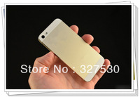 Back Battery Cover Housing door Assembly Middle Frame Metal  Housing For iPhone 5 5G Champagne Gold color HK post free shipping