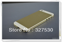 For iPhone 5  like iPhone  5S back cover Champagne Gold  Battery Cover Housing Assembly Middle Frame Metal  Housing door