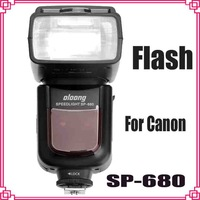 2014 High Qualtiy  Oloong SP-680 SP680 Flash Speedlite for Canon  600/1DX/5DII/6D/6D/7D/70D/60D/300D Dropshipping