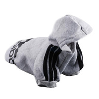 New Pet Puppy Dog  Cat Coat Clothes Hoodie Sweater T-Shirt Gray Free Shipping