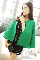 Free shipping New autumn fashion poncho fashion brief short jacket green white black WT13037