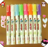 Led electronic blackboard neon pen light pen luminous pen neon goodplus handwritten pen 3mm4g 8pcs Free shipping!
