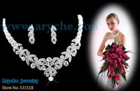 T6960,New 2013 Fashion Bridal Jewelry sets,costume crystal and Zinc alloy Jewelry set