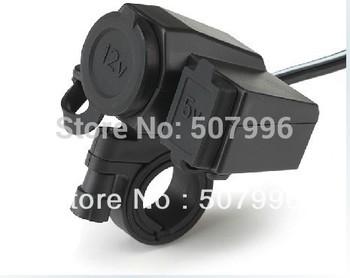Free shipping New Motorcycle 12V USB Cigarette Lighter Power Port Integration Outlet Socket 5v usb power charge socket D-961