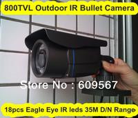 HD 800TVL Bullet Day/Night Camera ,18pcs Eagle Eye IR led, 40M Day/Night Range with IR-cut