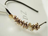 8476  Faux Pearl Rhinestones mixed Hairband New Fashion Hair Accessory Hair Jewelry
