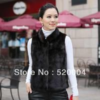 New arrival 2013 fur vest waistcoat faux mink hair vest