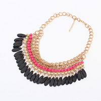 Mini order usd8,New arrive trendy fashion jewelry Vintage Colourful Multilayer Beads Necklace,free shipping