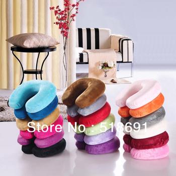Several Color  Option1pcs   Factory direct U shape massage memory foam pillow,zero stress healthy U neck memory pillow