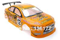 1:10 Radio Control Car  1/10 Karosserie Mitsubishi Lancer Evo Hulle s025o 190mm  free shipping