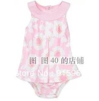 2013 summer carter baby girl  Romper, girls pink daisy  jumpsuit, one piece sunsuit