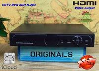Special video security monitoring equipment 8CH  DVR H.264 Network DVR  CCTV DVR  Special offer goods