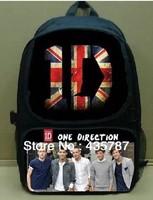 48*33cm large retro korean style one direction bag canvas school bag sport brand items send design at random