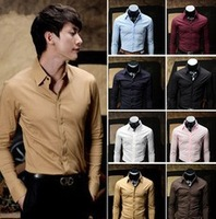 2013 Fall Men's Cotton Pure Mask Design Self-cultivation Shirt  8Color Plus Size XXL