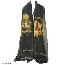 silk skull scarf promotion