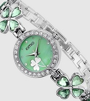 Green Women Brand Watches,stainless  Kimio Leaf Clover Watch 2013 Best Selling Lady Fashion New Arrival Free Shipping K456L