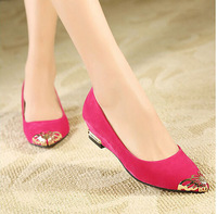 Hot's Europe Fashion women's Flats,Sequined Bowtie Pointed Toe  flat shoes