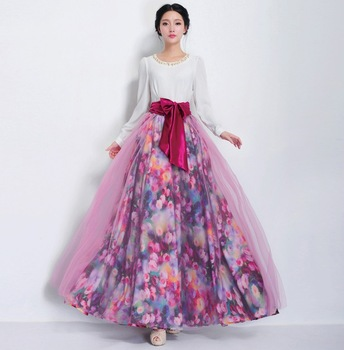 Long skirt of organza 7