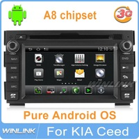 New 2013 Car DVD GPS Player for kia ceed venga android 2010 1080p HD A8 chip 1G CPU 512 DDR Radio PC System Navigation Audio Map