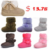 Ботинки для мальчиков Brand Fashion Children Winter Warm Fur Martin Boots Velvet Shoes For Girls Princess Boys Kids Cotton-padded Rubber Footwear Замша