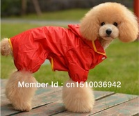 Free Shipping Pet Dog Products.MOQ:1PC Waterproof Cloth Pet Dog Raicoat.Pet Suppliers. Dog Clothes With 5 Sizes