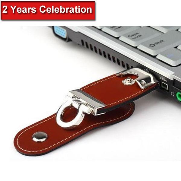 Hot Leather 64GB USB Flash Drive Pen Drive Pendrive Flash Drive Card Memory Stick Drives MicroData Top Free Shipping Top(China (Mainland))
