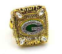 Free Shipping! Size11 replica 18k gold and rhodium 2010 green bay packers super bowl championship ring as gift.
