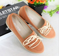 Free Shipping 2013 New Arrival Women's Flat Shoes Office Lady Boat Shoes New Arrival Factory Direct Wholesale Women's Shoes