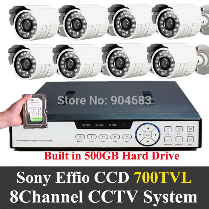 Система видеонаблюдения Oem 500GB 1/3' Sony Effio 700 CCD 8ch DVR 8 Chs HDMI 1080P 8 KIT9108H8RI700E-500g сверло oem 3 12v pcb 0 8