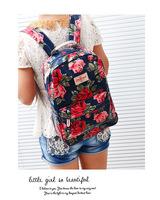 New fashion girl backpack college student shoulder bag hot girl popular racksack rose red famous brand knapsack