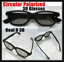 2 шт./лот, RealD 3d, круговой поляризацией 3D очки фильм очки с круговой поляризацией 3D очки для тв, жк, фильм, игры